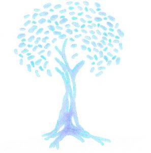 boom licht blauw